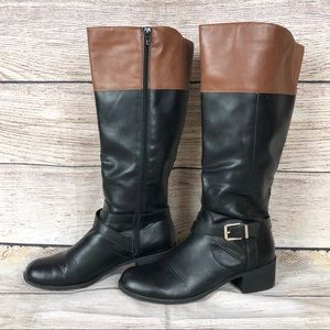 Style & Co |  Venesa Black-Brown Riding Boots